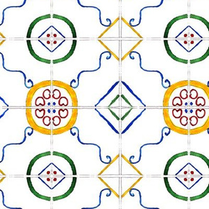 Majolica • watercolor tiles