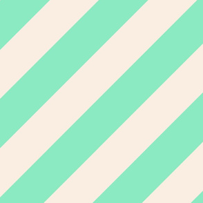 Mint Green Beige Color Large Simple Stripe Gift Present Candy Paper Pattern