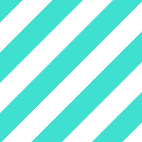 Turquoise Fresh White Color Large Simple Stripe Gift Present Candy Paper Pattern