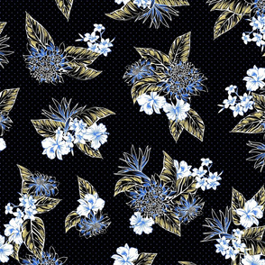Virginia Floral - Black/Yellow/Blue