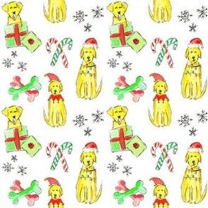 Christmas Yellow Labs
