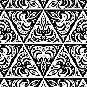 Happy Hexagons BW 1