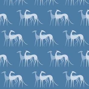 Sighthound couple blue