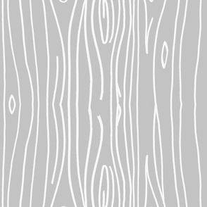 Wonky Woodgrain - Light Light Grey