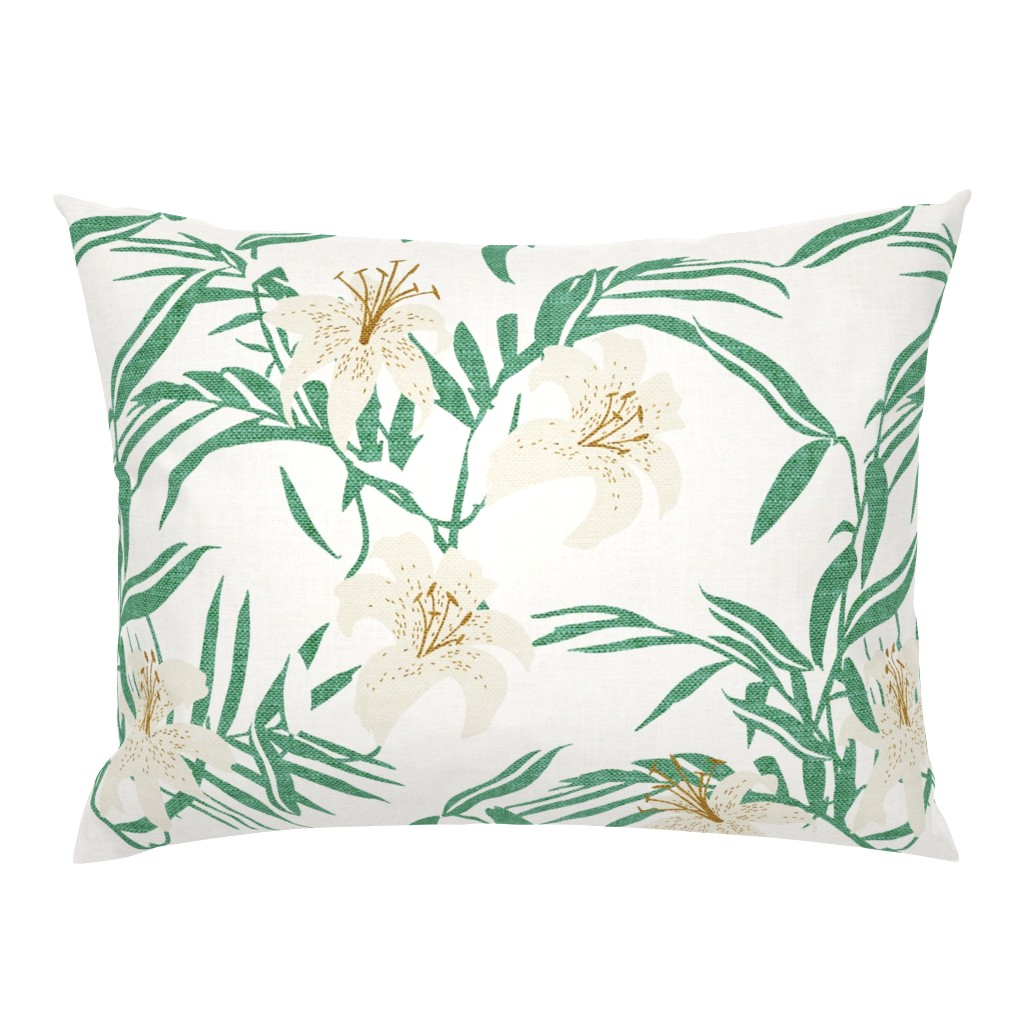Campine Pillow Sham featuring North Lily - large scale  by holli_zollinger