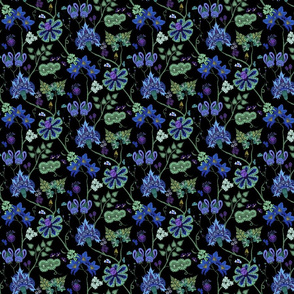 indian floral 3 color variation 1