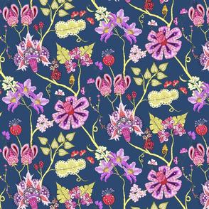 indian floral 3 color variation 1