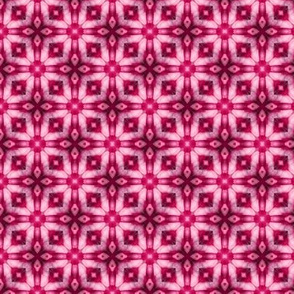 18-02g Floral Geometric Batik Hot Pink White _ Miss Chiff Designs