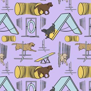 Simple Labrador Retriever agility dogs - purple