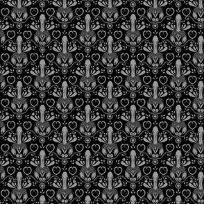 NSFW Folk Art gray and black