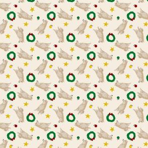 Tiny cream Shiba Inu - Christmas