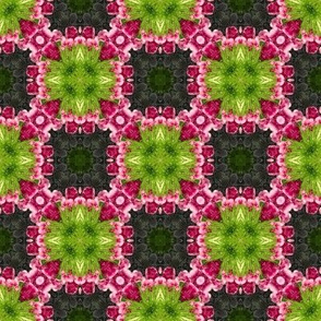 18-02d Lime Green Hot Pink Gray Purple Abstract Floral _ Miss Chiff Designs