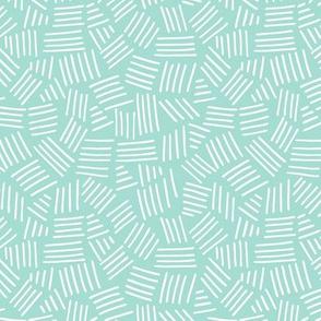 Basket Weave - Mint
