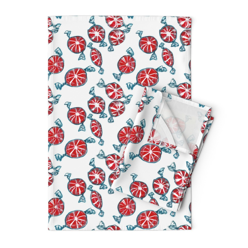Orpington Tea Towels featuring Peppermint Candies by sueclancy