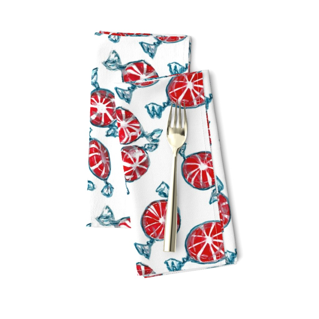 Amarela Dinner Napkins featuring Peppermint Candies by sueclancy