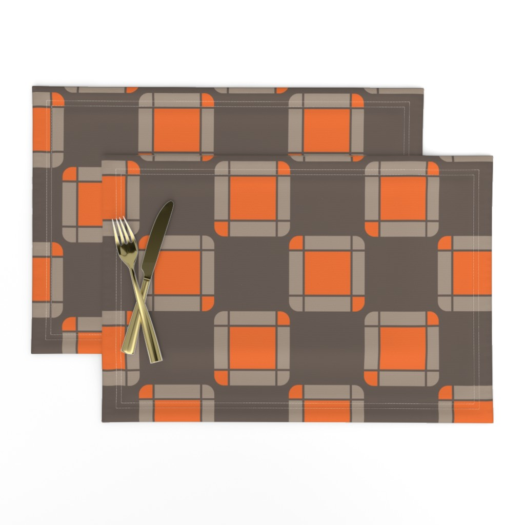 Lamona Cloth Placemats featuring UMBELAS SQUA 2 by umbelas