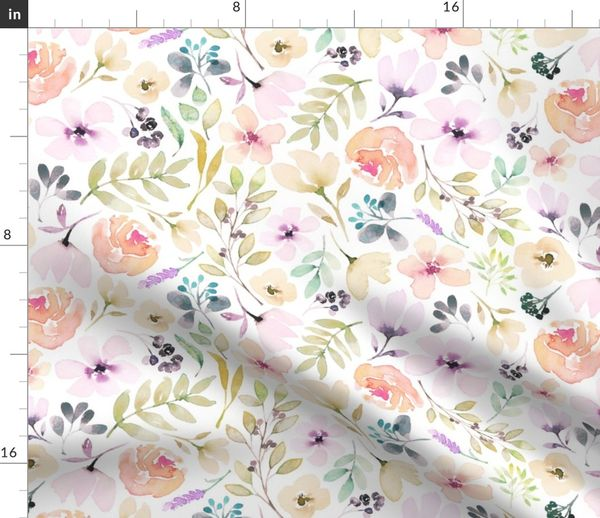 27a3331aa91 Washed out watercolour floral pretty pastels flowers girls women