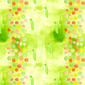 Watercolor peas, seamless pattern