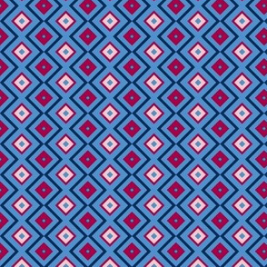Blue and Pink Bias Squares - small