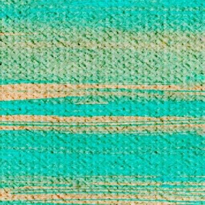 Beach Stripe turquoise blue and sand