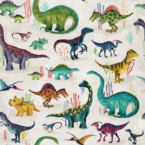 Dinosaurs bright {large}