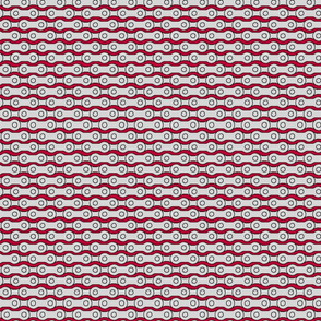 bicycle chain repeat 1 horizontal lipstick red