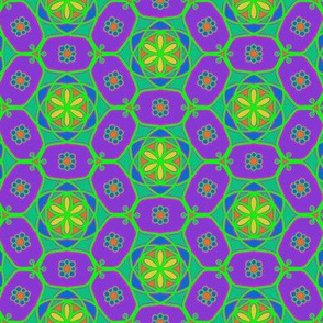 Flower chains - neon purple and green