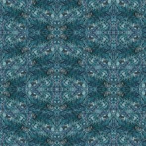 Mystic Pine Cones - Teal
