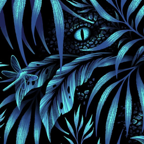 Jurassic Jungle - Petrol Blue - LARGE