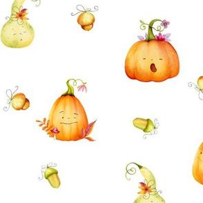 Sleepy Cute Pumpkins