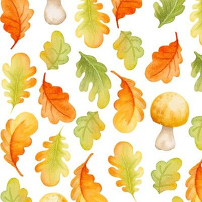 Fall leaves I White