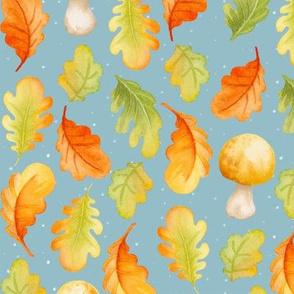 Fall leaves I Blue