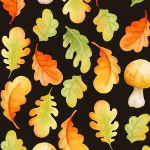 Fall leaves I Black