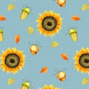 Sunflowers and acorns