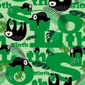 Sloths in Green