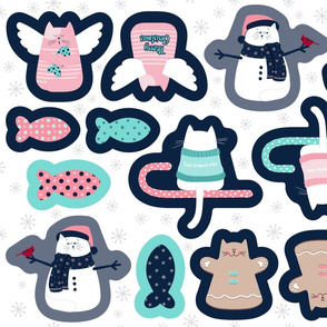 Christmas Ornaments Cut and Sew   Cat-Xmas