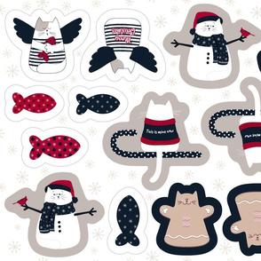 Christmas Ornaments   Cat-xmas -Farmhouse Style