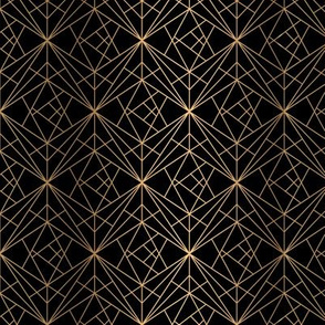 Golden Geometric Black