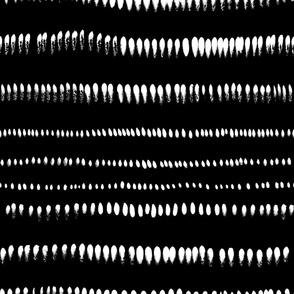 jumbo scale brushstrokes black and white