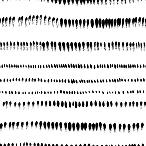 jumbo scale brushstrokes black on white