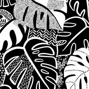 patterned monstera