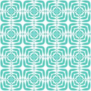 Turquoise maze squares