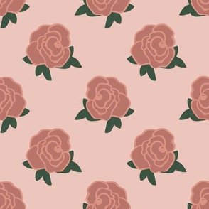 Rose Florals 01 (Powder Pink)