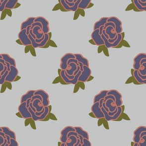 Rose Florals 02 (Pale Blue)
