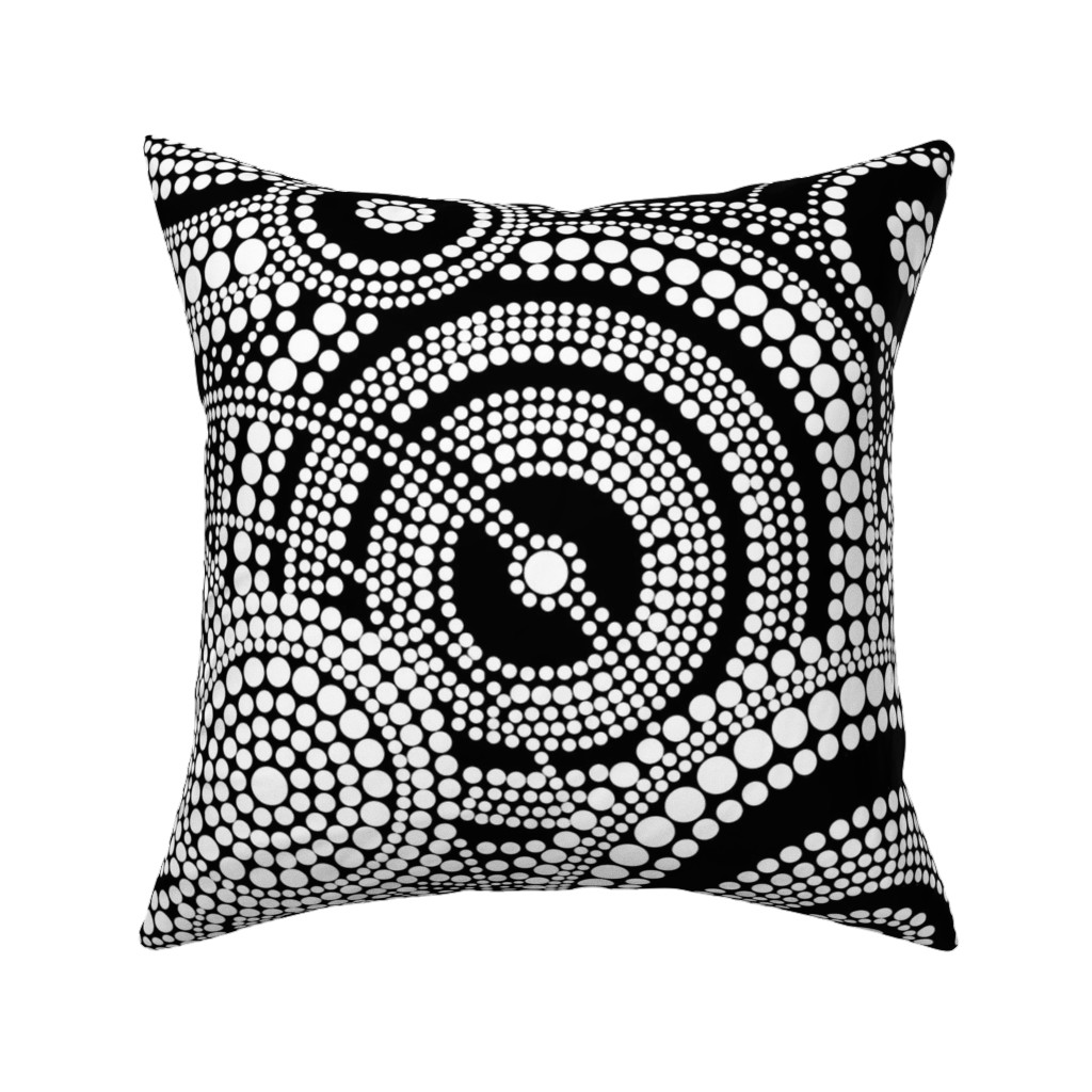 Catalan Throw Pillow featuring Dreaming Black and white by elramsay