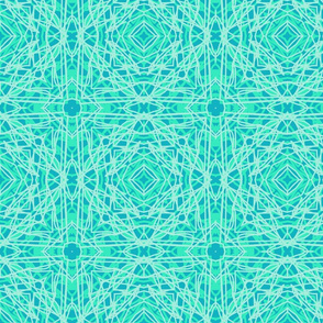Blue and turquoise laser web silly string