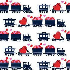 Love train - navy on white