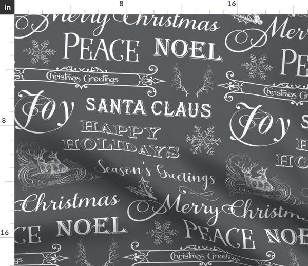 Christmas Sayings.Fabric By The Yard Christmas Typography Christmas Greetings Christmas Sayings