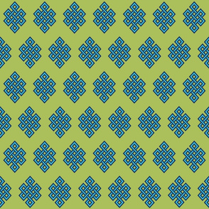 CELTIC KNOT - _18_Lime & Navy _14M