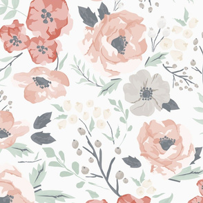 Large Scale Soft Meadow Floral